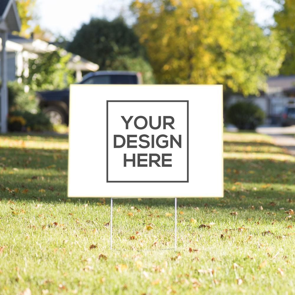 Yard sign sample | GPS Tax Supplies